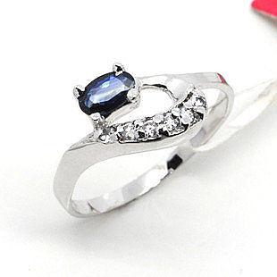 925銀天然藍寶石戒指