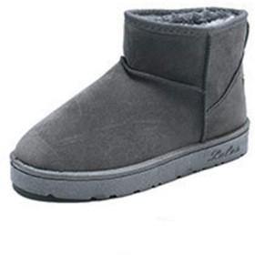 [8xui] レディース 23.5cm ブーツ靴 グレー おしゃれショートブーツ レディース ブーツ 靴 シューズ レディース ブーツ レディース ブーツ ショートブーツ 大きいサイズ 冬 暖かい おしゃれ シューズ 滑り止め アウトドア シューズ 通勤