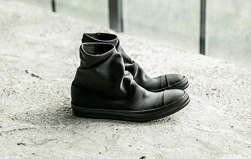 找到自己 MD 日系 高品質 時尚 潮 男 黑橡膠頭 高幫 低跟休閒鞋 低跟鞋