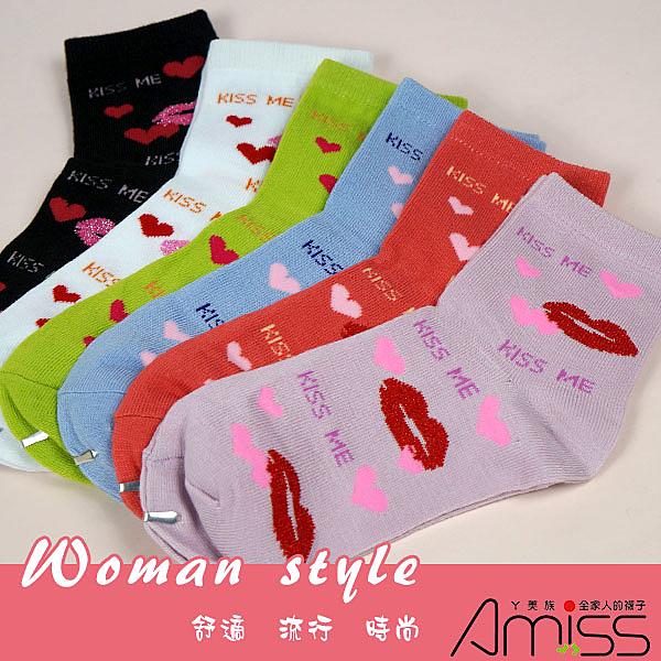 Amiss【B801-53 】流行提花少女襪-53(4雙入)
