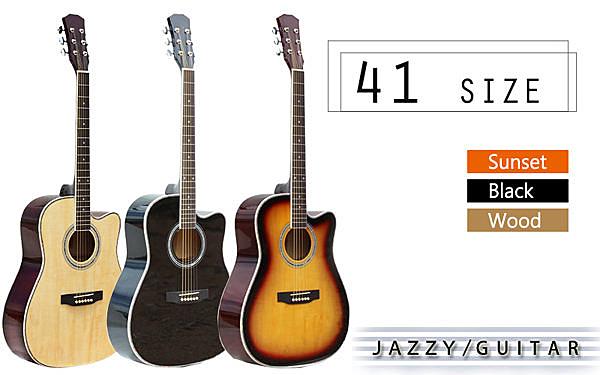 【奇歌】三色任選 41 吋標準桶身+教學光碟+調音器+全配,民謠吉他,可調弦距,全椴木,木吉他