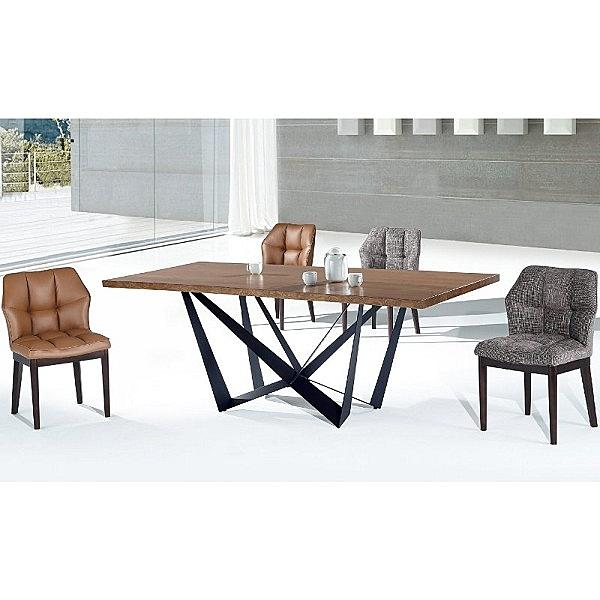 餐桌 PK-540-6 自然邊胡桃7尺餐桌+A-019黑腳 (不含椅子)【大眾家居舘】