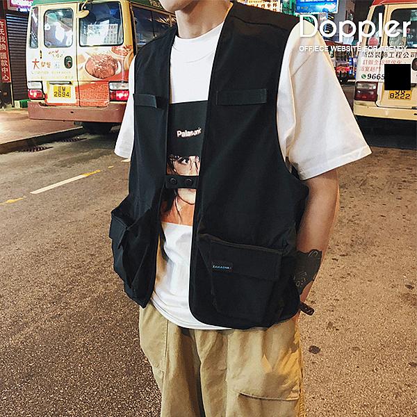 Doppler 軍風背心 雙口袋前釦工裝軍風背心 現貨+預購 【TJMJ1702】