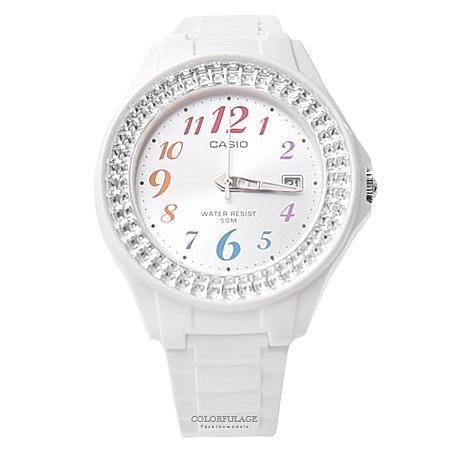 CASIO卡西歐 繽紛數字水鑽手錶【NEC10】