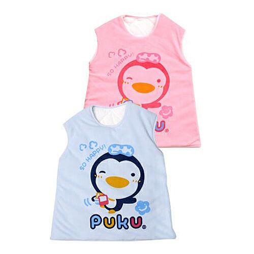 【奇買親子購物網】藍色企鵝 PUKU Petit 暖暖防踢睡袍(藍/粉)/M