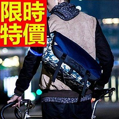尼龍側背包-設計可肩背百搭學院風男女郵差包1色57b20【巴黎精品】