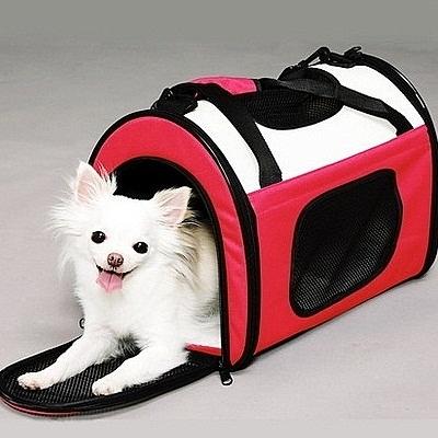 寵物包-時尚輕巧透氣可摺疊貓狗肩背寵物外出提籠2色69b14【時尚巴黎】