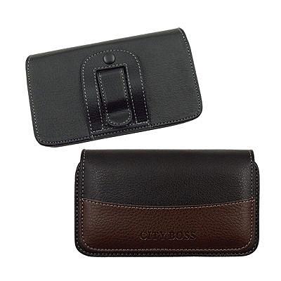 ★品味極品 方便實用★City Samsung Note2/N7000等時尚皮革橫式腰掛保護套