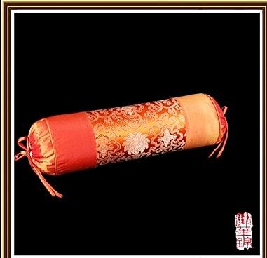 圓柱腰靠枕 糖果 中式羅漢太師 仿古織錦