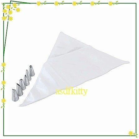 asdfkitty可愛家☆QueenRose日本霜鳥6入不鏽鋼奶油花嘴附擠花袋 SS號-日本製