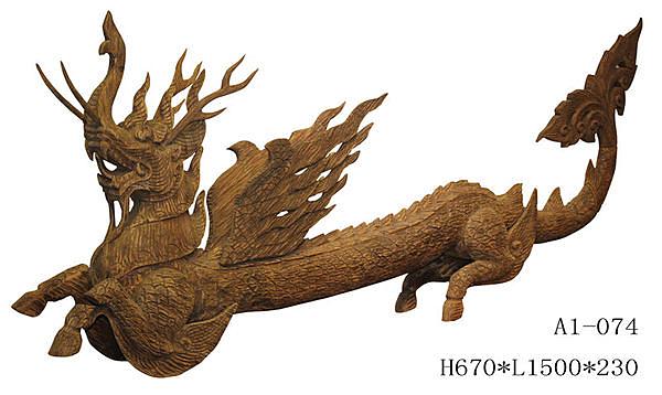 泰式木雕 擺件 工藝品 泰國龍