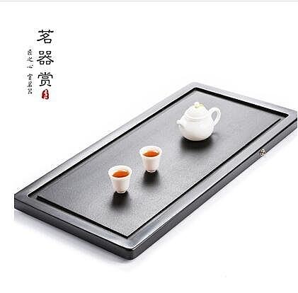 烏金石茶盤天然整塊石材茶海石頭黑金石茶臺茶具(簡奢)
