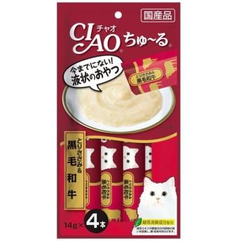 いなばペットフード CIAOちゅ〜るとりささみ&黒毛和牛14g×4本