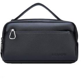 メンズクラッチカジュアルファッションメンズバッグソフトレザー大容量ビジネス雰囲気トートバッグ-black