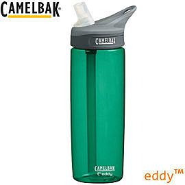 丹大戶外【CamelBak】美國eddy多水系列 600ml吸管水壺/不含雙酚A 53527 翡翠綠