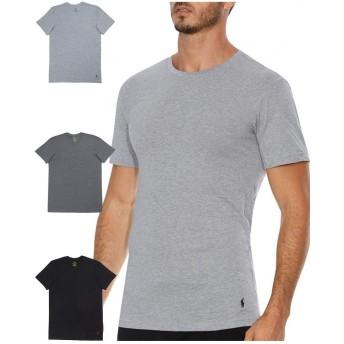 (ポロ ラルフローレン) POLO RALPH LAUREN 3枚セット 半袖 Tシャツ メンズ クラシックコットン クルーネック グレー 黒 L(USサイズ)[RCCNP3 /LCCN] [並行輸入品]