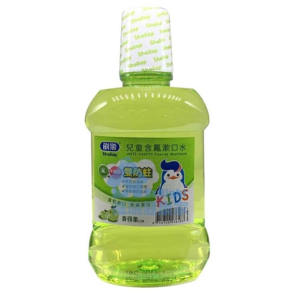 刷樂 兒童含氟漱口水 青蘋果口味 500ml/瓶◆德瑞健康家◆