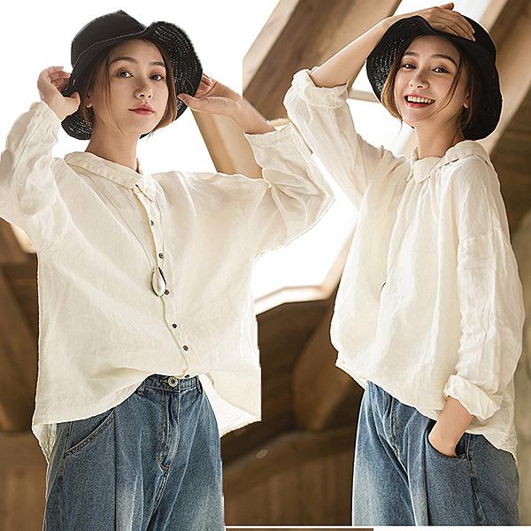 襯衫-兩面穿長袖上衣/設計家 SC206
