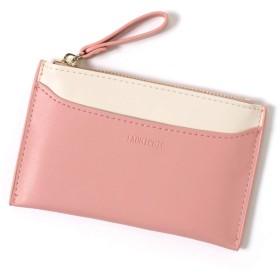 JOKnet パスケース レディース 定期入れ カードケース 薄型 小銭入れ かわいい コインケース 通勤 通学 ピンク F