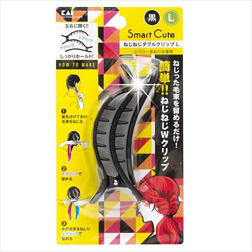 貝印HC-3349左右雙開髮夾.編髮器.浪漫公主頭-單入(黑L) [52565]