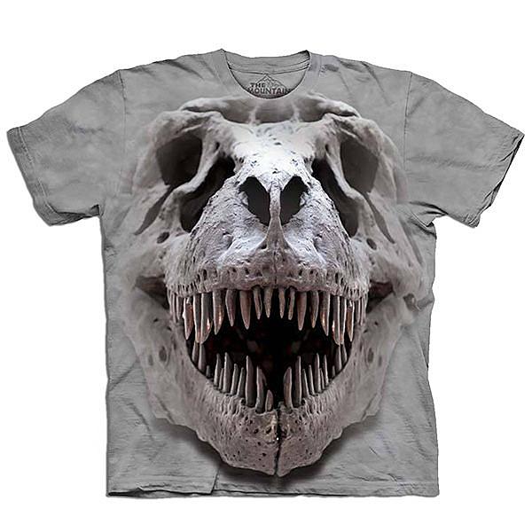 【摩達客】 (預購) 美國進口【The Mountain】自然純棉系列 雷克斯龍骷髏 T恤 (10414045033a)