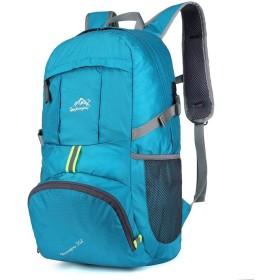 Jikansakari 登山リュック バックパック 多機能 35L 大容量 登山用バッグ 富士登山 軽量 高通気性 リュックサック 山登り 泊旅行 海外旅行 防災 ハイキング レイクブルー