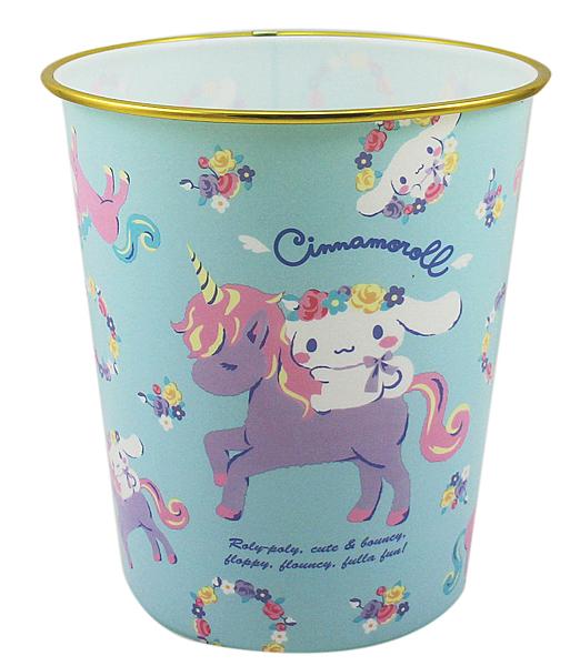 【卡漫城】 大耳狗 垃圾桶 粉藍 ㊣版 日本限定 垃圾筒 塑膠桶 獨角獸 Cinnamoroll 喜拿狗