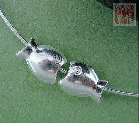 銀 大嘴小魚 自由搭配 時尚流行 佩戴舒適