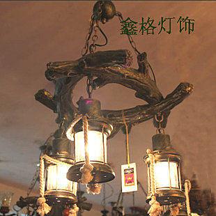 吧吊燈歐式地中海風客廳美式鄉村
