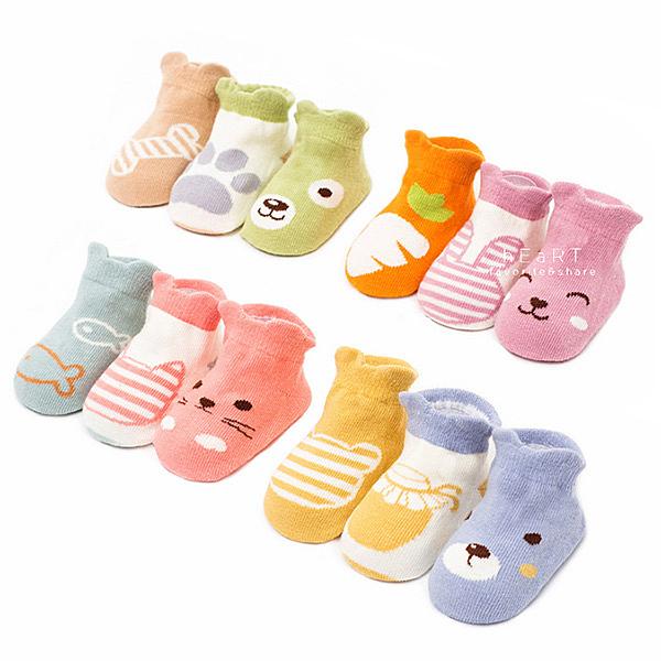 繽紛動物彈性襪 3雙組 童襪 襪子