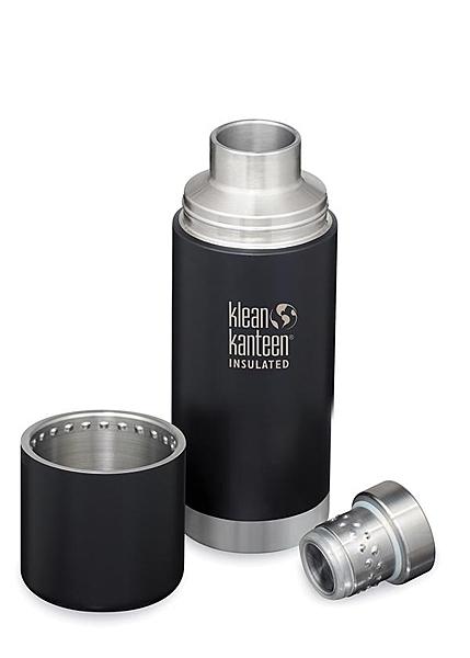 [好也戶外]Klean Kanteen 750ml 不鏽鋼保溫瓶 /原鋼色/黑色 No.KTKPRO 0.75L-BS/SB