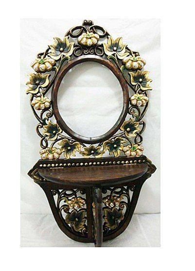 泰國工藝品 壁飾 掛件 鏡框 雕花