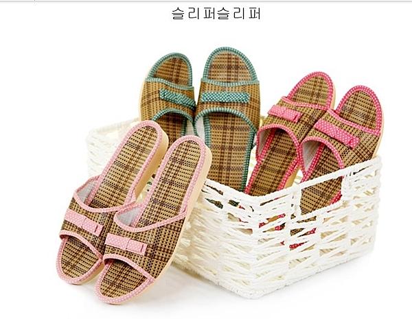 【協貿國際】情侶家居臥室籐編地板拖鞋