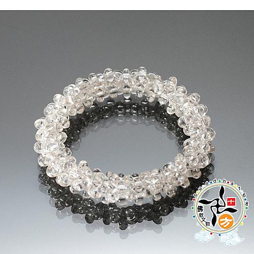 水晶圓滿豐足手珠5mm 【 十方佛教文物】