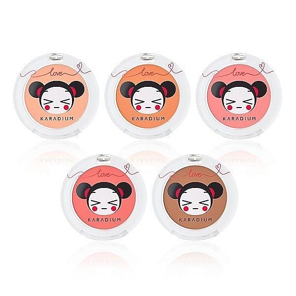 韓國 中國娃娃聯名限量款 腮紅眼影粉 (Karadium X PUCCA )《SV8439》快樂生活網