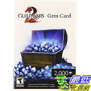 [106美國直購] 2017美國暢銷軟體 Guild Wars 2 Gem Card - PC