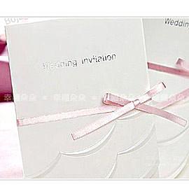 進口設計婚卡-心之嫁紗-創意中式喜帖韓式西式請帖 幸福朵朵(請先留言數量,勿直接購買)