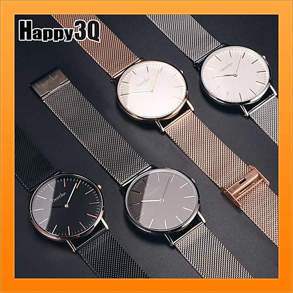 超薄大錶面石英手錶商務男生OL女生鋼帶手錶情侶對錶簡約風生日禮物 -黑/灰/金/銀【AAA2905】預購