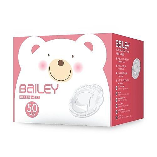 韓國防溢乳墊 雙重防滲漏設計母乳墊 50入-BAILEY 貝睿 (嬰幼兒/寶寶/兒童/小孩/小朋友)