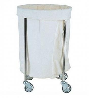 不鏽鋼 污衣車/汙衣車-附帆布袋-附輪