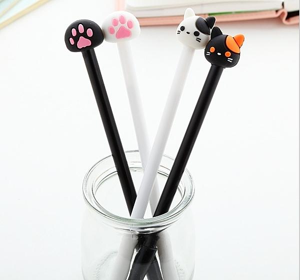 King*Shop----新品創意文具可愛貓咪貓爪子中性筆 卡通黑色中性筆水筆簽字筆