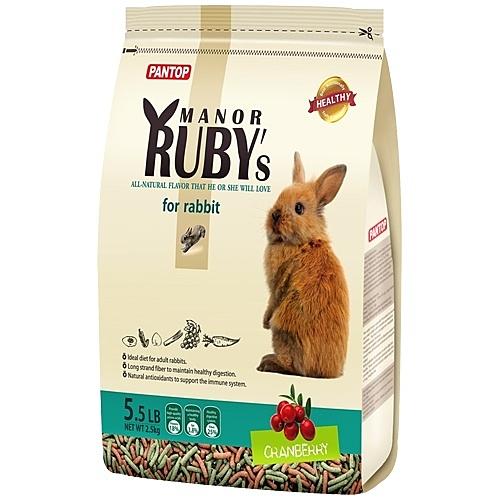 【寵物王國】PANTOP邦比-莊園寵物兔糧(蔓越莓+綜合野菜)(高纖除臭配方)2.5kg