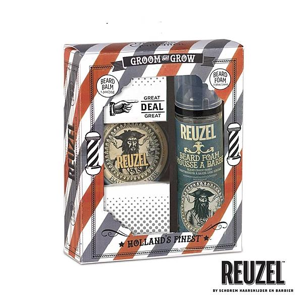 REUZEL GROOM & GROW 鬍鬚保養造型禮盒組 (原廠公司貨)【Emily 艾美麗】