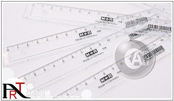 『ART小舖』德國Mobius+Ruppert (M+R) 透明窄版繪圖尺 製圖用品 16cm 單售 #11160000
