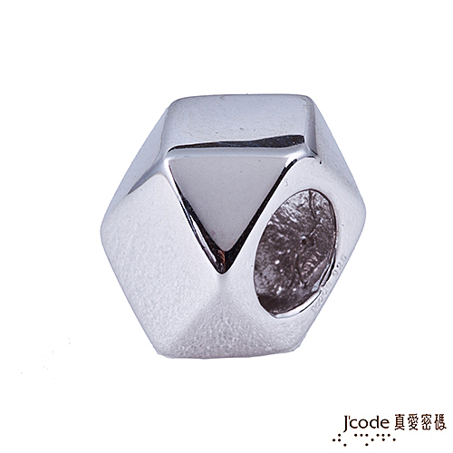 J'code真愛密碼 右偏執面 純銀串珠-男