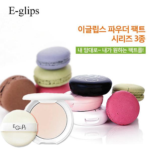 E-glips 美肌零暇控油/粉嫩蘋果光/粉裸妝肌粉餅【23815】