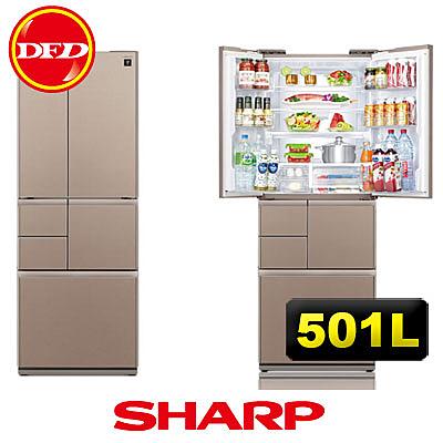 SHARP 夏寶 SJ-GT50BT-T 501公升 極鮮大冷凍庫 冰箱 日本製造 星鑽棕 ※運費另計(需加購)