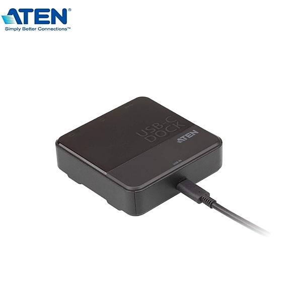 【超人生活百貨】ATEN USB-C HDMI雙螢幕迷你擴充基座 UH3233 透過單螢幕模式支援4K(UHD) 解析度
