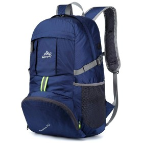 Jikansakari 登山リュック バックパック 多機能 35L 大容量 登山用バッグ 富士登山 軽量 高通気性 リュックサック 山登り 泊旅行 海外旅行 防災 ハイキング ダークブルー