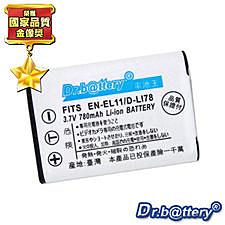 特價免運費~《Dr.b@ttery》Pentax D-Li78 高容量680mAh鋰電池